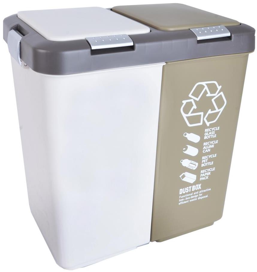 Odpadkový koš Orion duo Dust 40 l