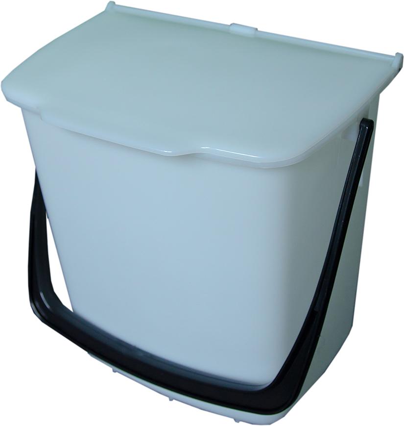 Odpadkový koš závěsný 8 l -bílý