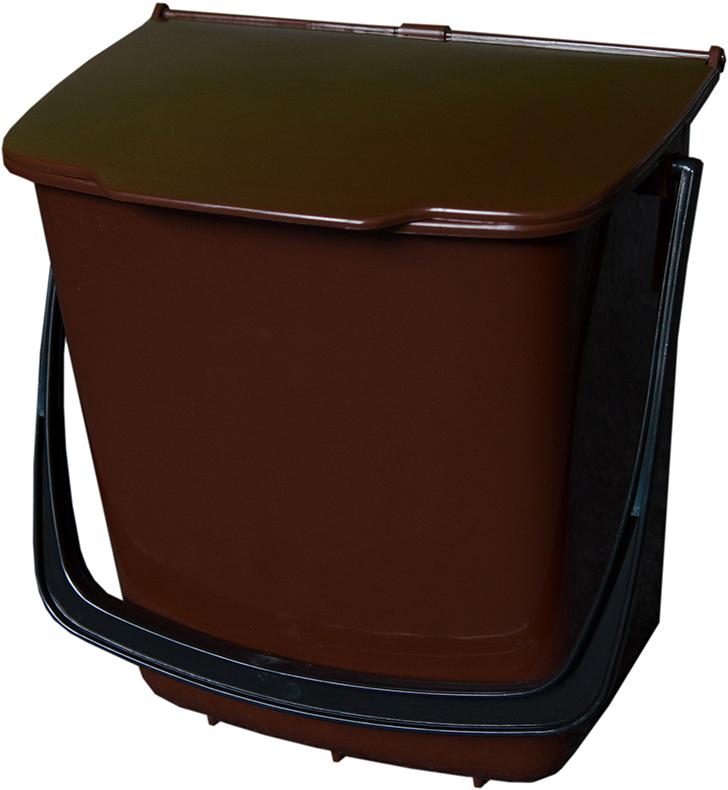 Odpadkový koš závěsný 8 l - hnědý