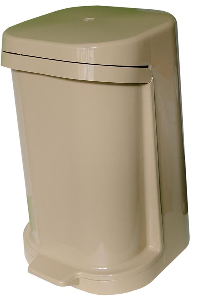 Odpadkový koš výklopný béžový