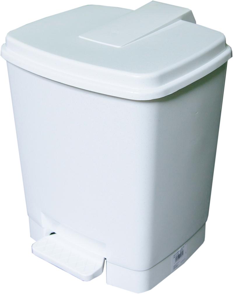 Odpadkový koš Goliáš 15 l bílý mramor