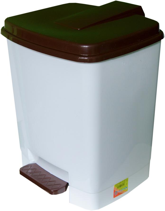 Odpadkový koš Goliáš 15 l - Bílo-hnědý