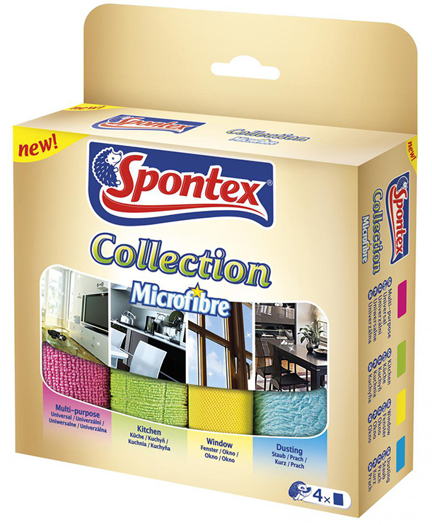 Spontex Mikroutěrky Collection 4 ks