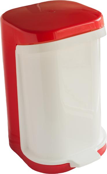 Odpadkový koš výklopný červeno-bílý