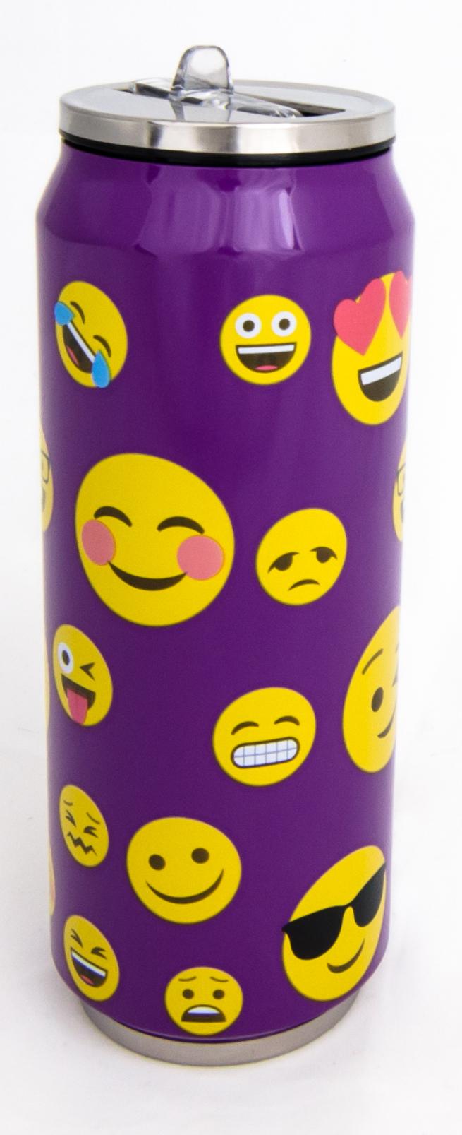 Termohrnek plechovka SMILE - fialová