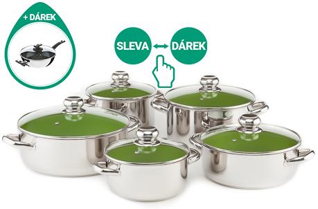 Kolimax Cerammax pro standard sada nádobí zelená 10 dílná
