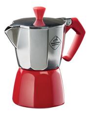 Kávovar PALOMA Colore, 1 šálek - červená
