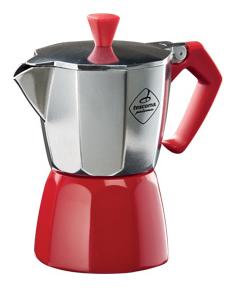 Kávovar PALOMA Colore, 3 šálky - červená