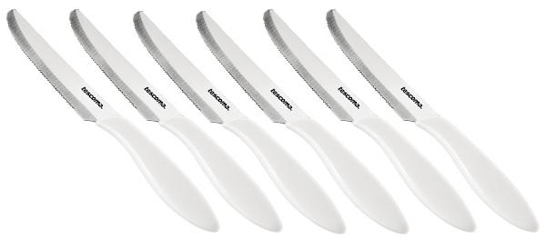 Nůž jídelní Tescoma PRESTO 12 cm, 6 ks, bílá