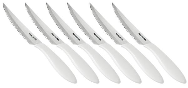 Nůž steakový Tescoma PRESTO 12 cm, 6 ks, bílá