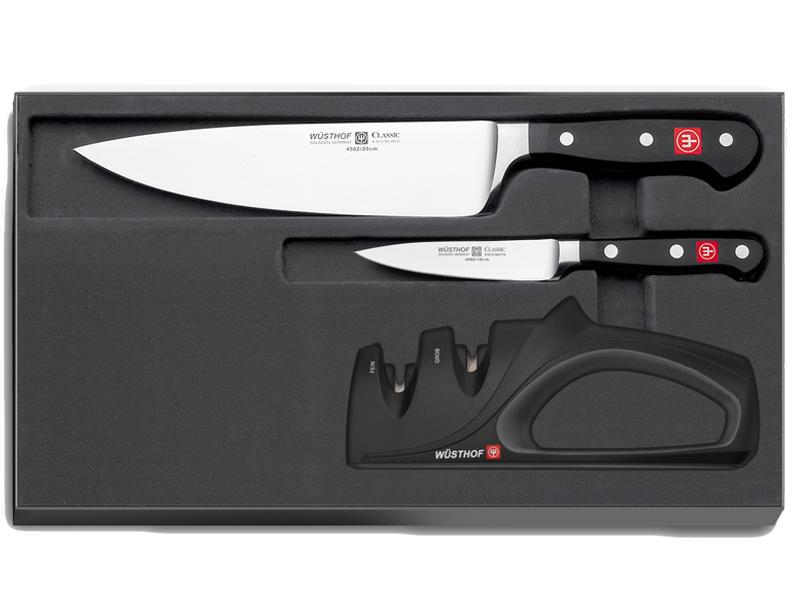 Wüsthof Classic sada 2 nožů + brousek