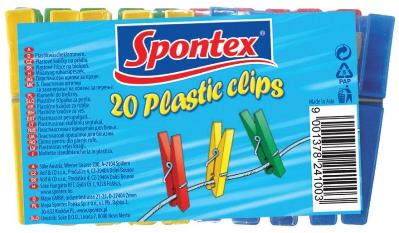 SPONTEX Kolíčky na prádlo 20 ks