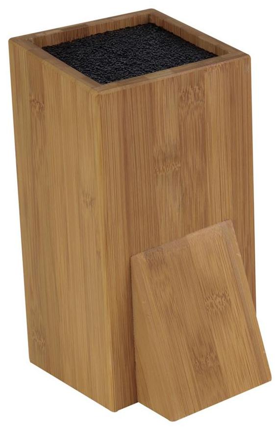 Dřevěný stojan na nože se štětinami