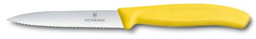 Kuchyňský nůž Victorinox vlnitý špičatý žlutý