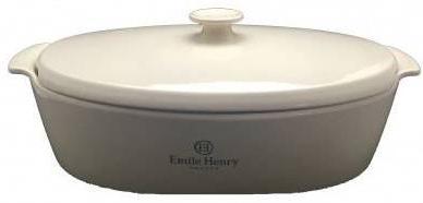 Emile Henry oválný pekáč s poklicí 5,8 l slonová kost