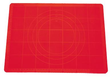 Vál na těsto silikonový DELÍCIA 58x48 cm - červená