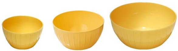 Mísy plastové Tescoma DELÍCIA, sada 3 ks - žlutá