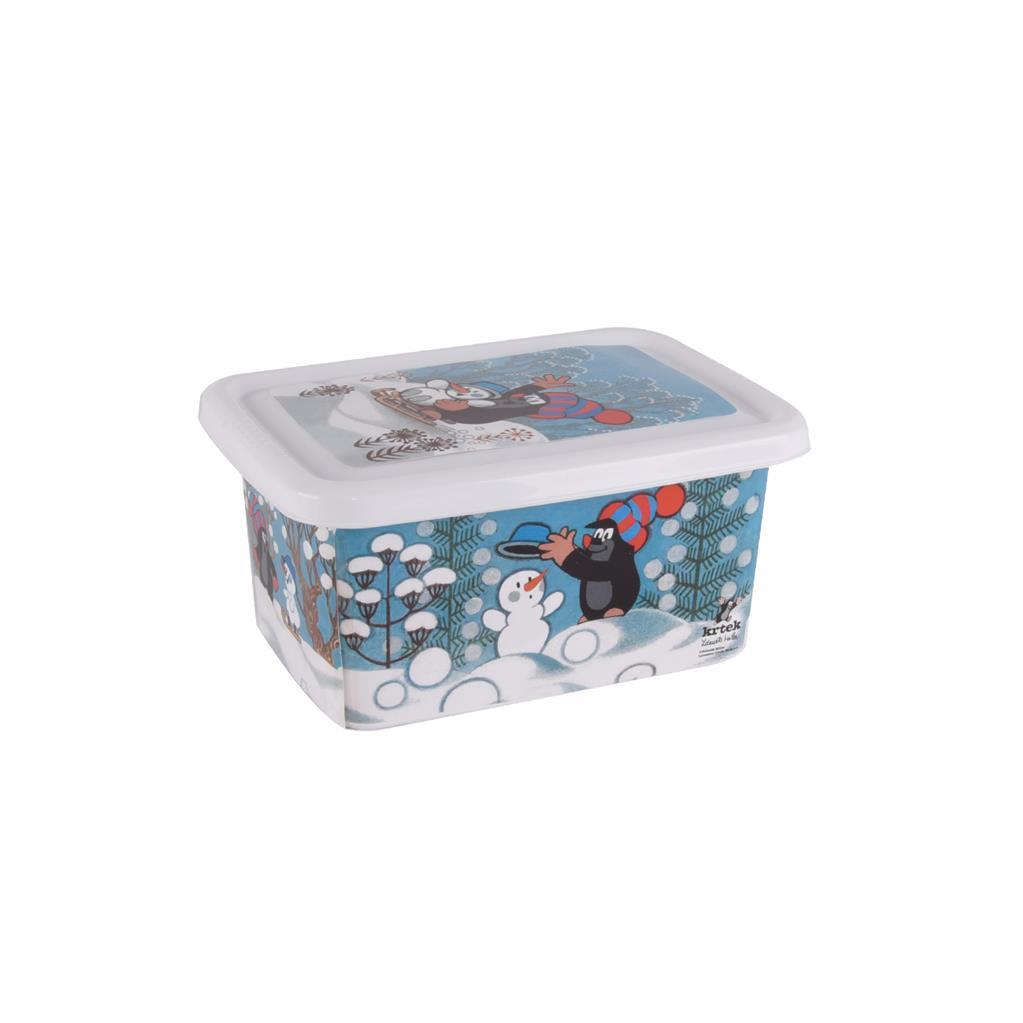 Plastový box s víkem 4 l Krtek