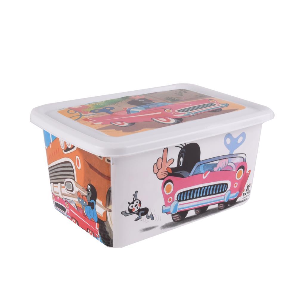 Plastový box s víkem 15 l Krtek