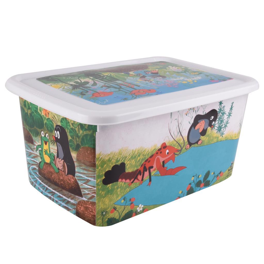 Plastový box s víkem 26 l Krtek