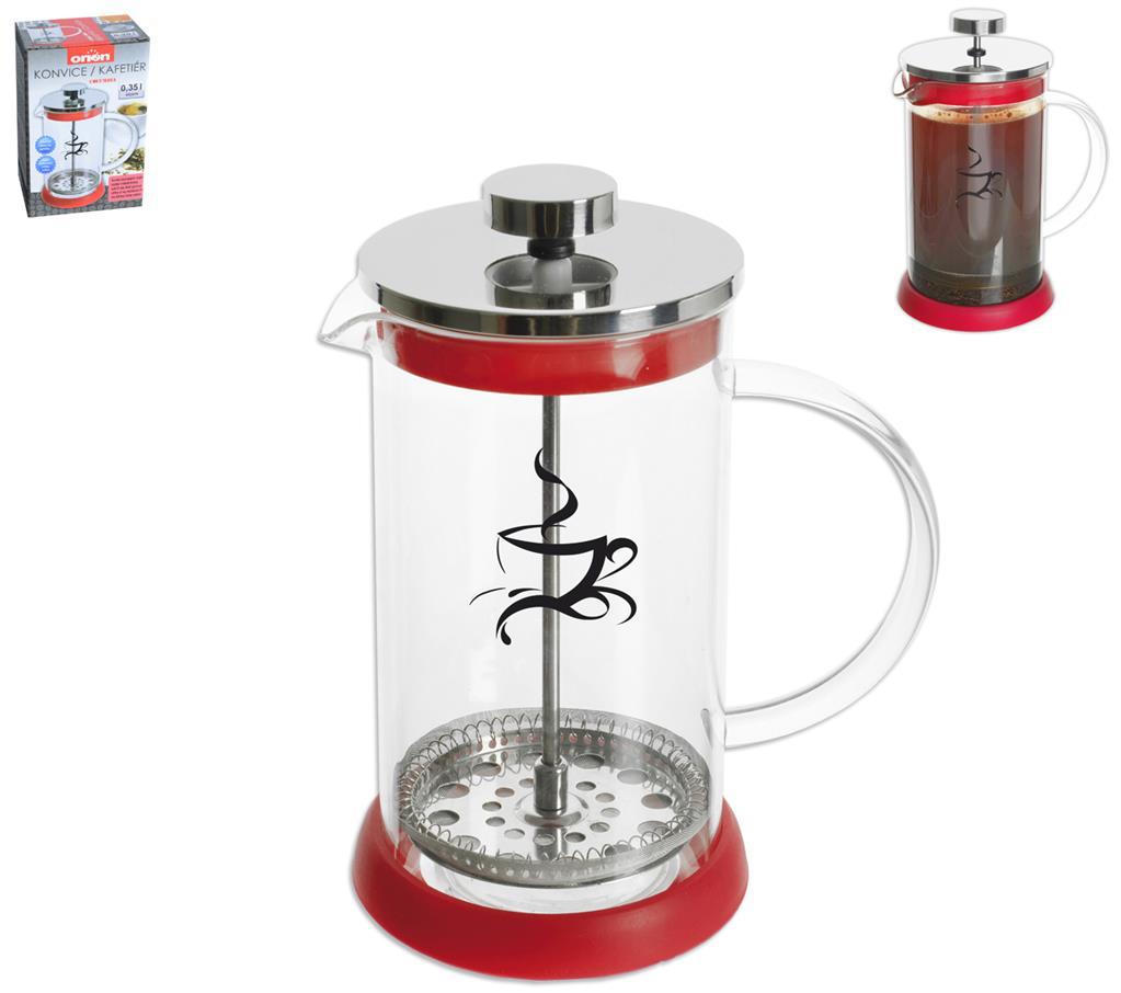 Konvice na čaj a kávu Orion 0,35 l červená