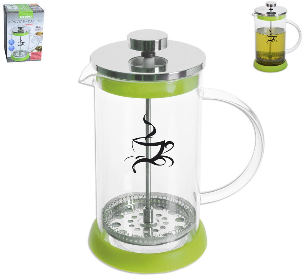 Konvice na čaj a kávu Orion 600 ml zelená