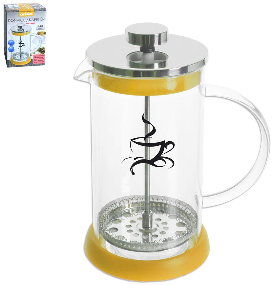 Konvice na čaj a kávu Orion 800 ml žlutá
