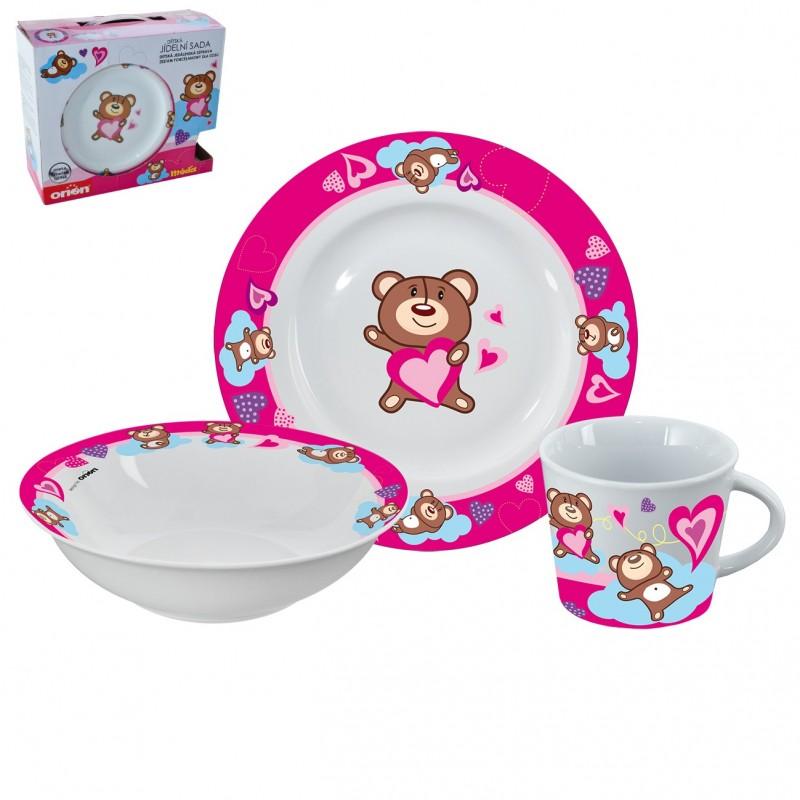 Dětská jídelní sada Orion Medvídek