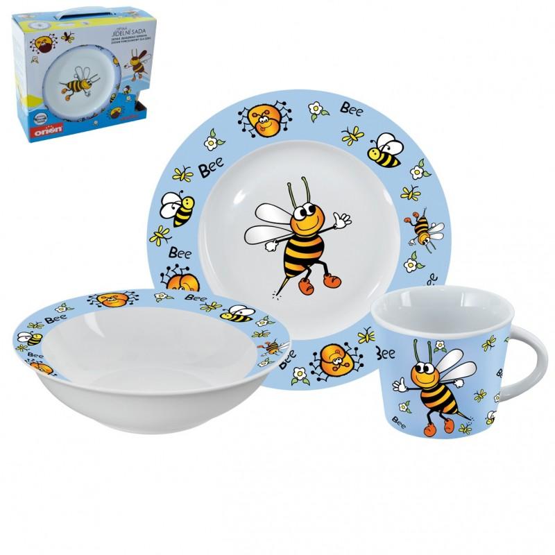 Dětská jídelní sada Orion Bee porcelánová 3 díly
