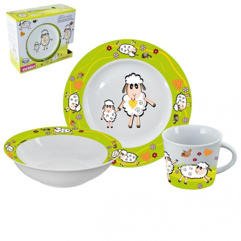 Dětská jídelní sada Orion Sheep 112336 porcelánová 3 díly