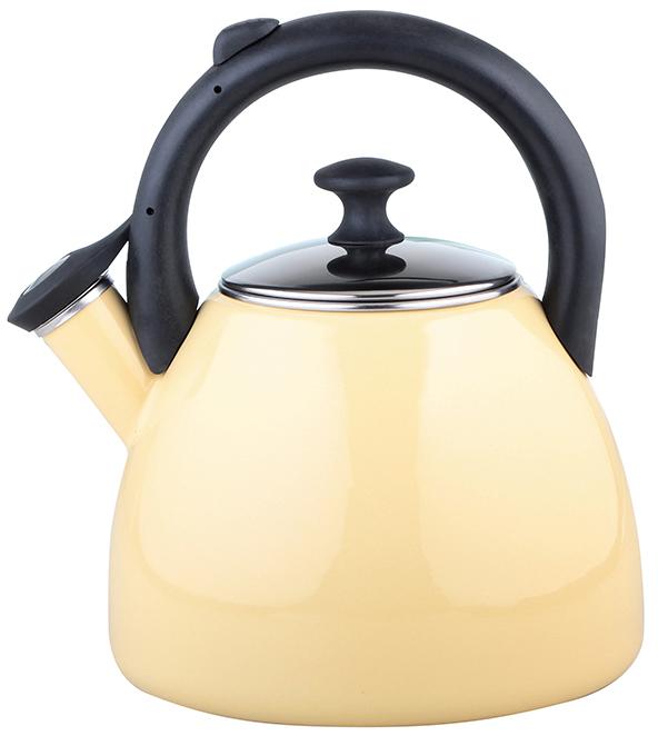Konvice na čaj smaltovaná 2,2 l béžová