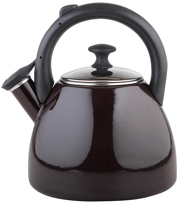 Konvice na čaj smaltovaná 2,2 l tmavě hnědá