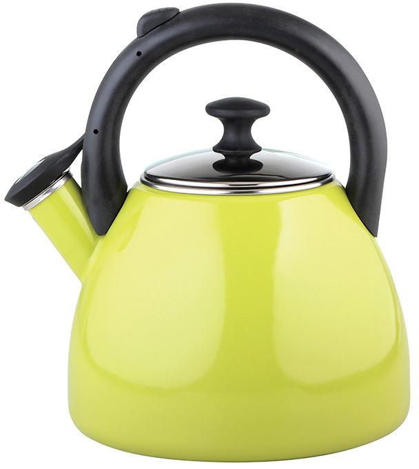 Konvice na čaj smaltovaná 2,2 l zelená
