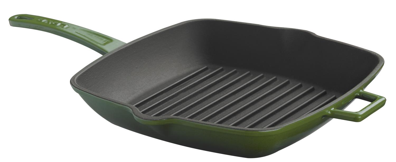 LAVA Metal Litinová grilovací pánev 28x28cm - zelená