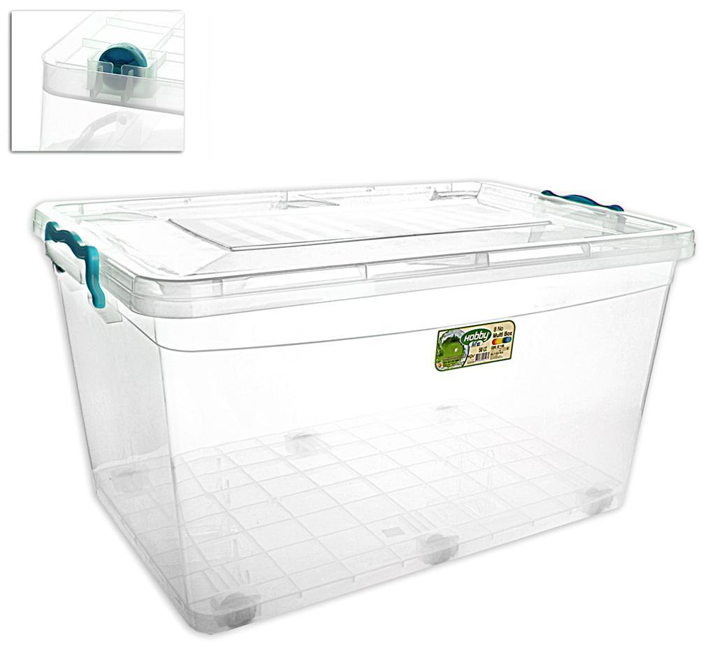Plastový box s víkem UH Multi 50 l na kolečkách