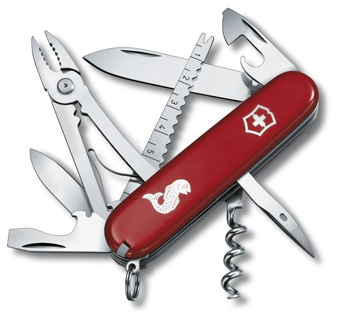 Nůž Victorinox 1.3653.72 Angler červený