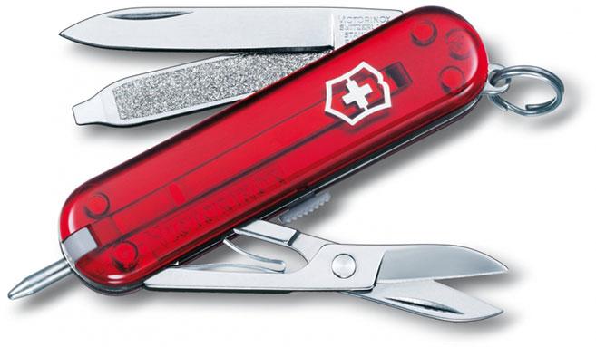 Nůž Victorinox 0.6225.T Signature červený transparentní