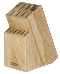 Dřevěný blok Tescoma Woody na 13 nožů, nůžky nebo ocílku