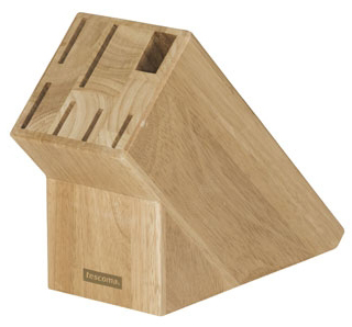Dřevěný blok Tescoma Woody na 6 nožů, nůžky nebo ocílku