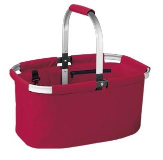Skládací nákupní košík Tescoma červený