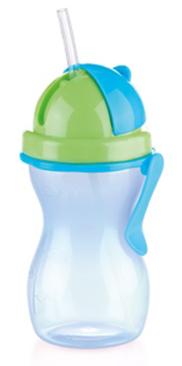 Dětská láhev Tescoma Bambini s brčkem modrá
