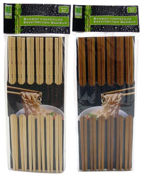 Čínské hůlky bambusové 12 párů
